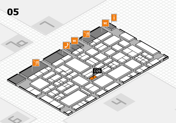 EuroShop 2017 hall map (Hall 5): stand D28