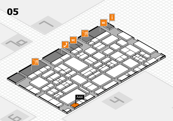 EuroShop 2017 hall map (Hall 5): stand A44