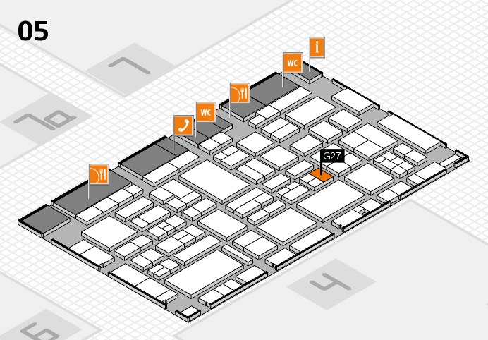 EuroShop 2017 hall map (Hall 5): stand G27