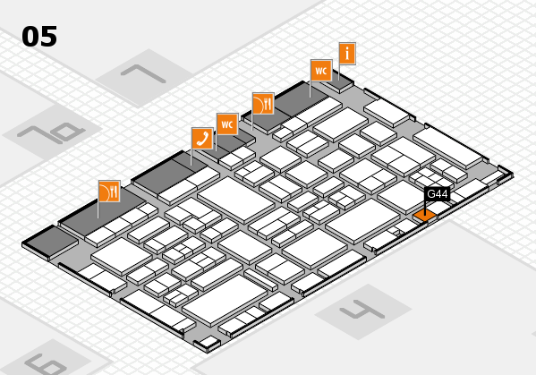 EuroShop 2017 hall map (Hall 5): stand G44