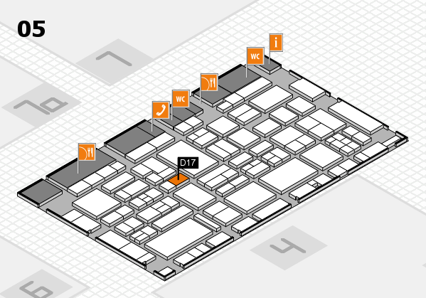 EuroShop 2017 hall map (Hall 5): stand D17