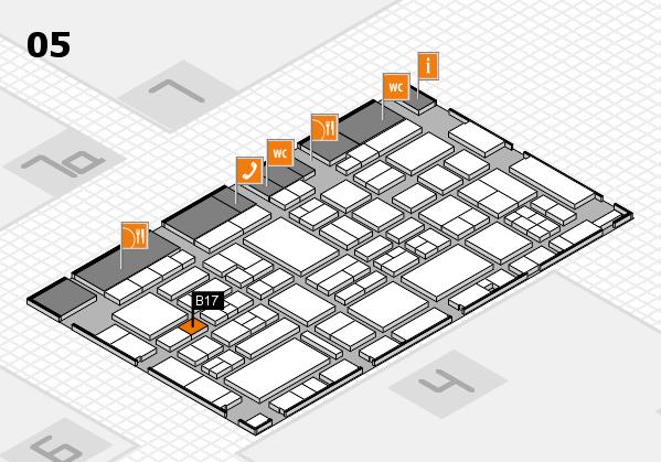 EuroShop 2017 hall map (Hall 5): stand B17