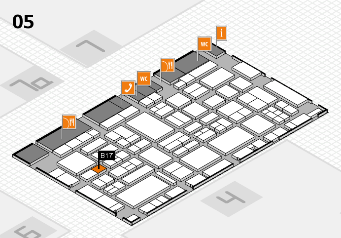 EuroShop 2017 hall map (Hall 5): stand B17