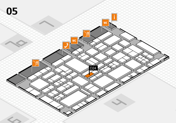 EuroShop 2017 hall map (Hall 5): stand D24
