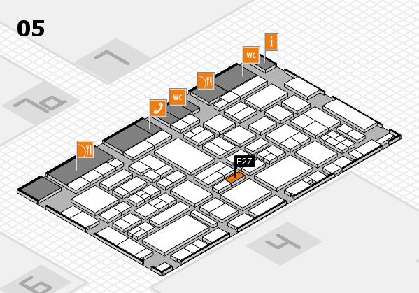 EuroShop 2017 hall map (Hall 5): stand E27