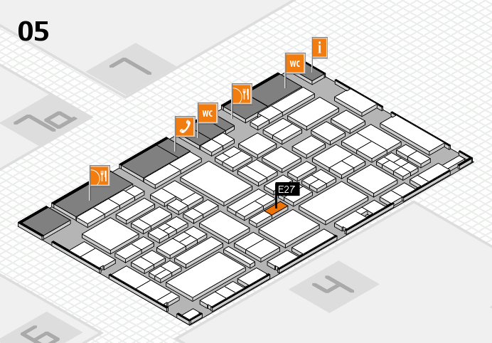 EuroShop 2017 hall map (Hall 5): stand E27