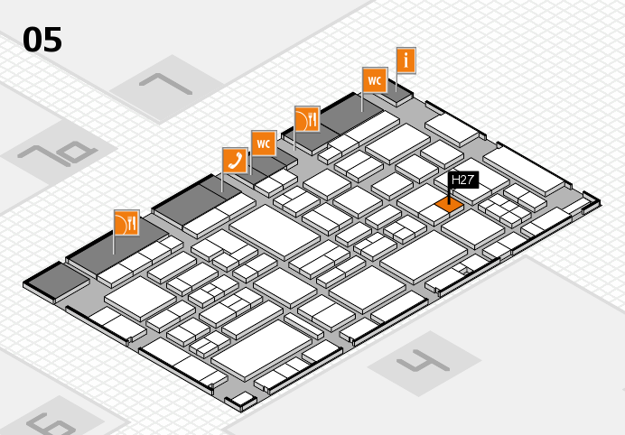 EuroShop 2017 hall map (Hall 5): stand H27