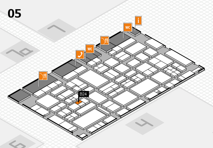EuroShop 2017 hall map (Hall 5): stand B24