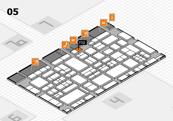 EuroShop 2017 hall map (Hall 5): stand F02