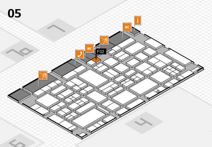 EuroShop 2017 hall map (Hall 5): stand F02