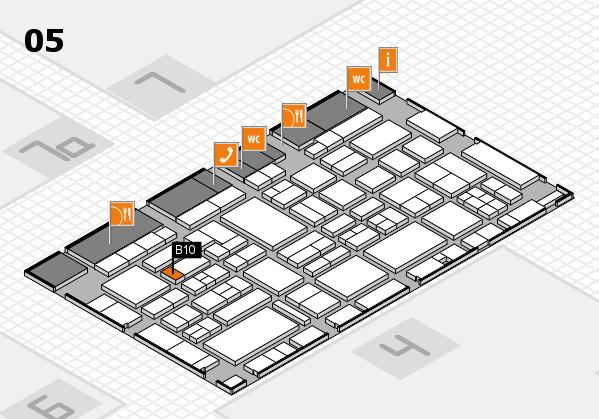 EuroShop 2017 hall map (Hall 5): stand B10