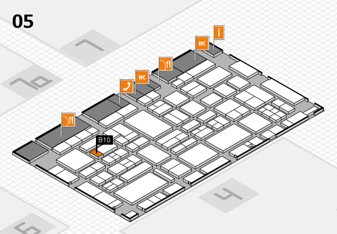 EuroShop 2017 hall map (Hall 5): stand B10
