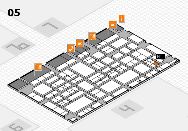 EuroShop 2017 hall map (Hall 5): stand I41