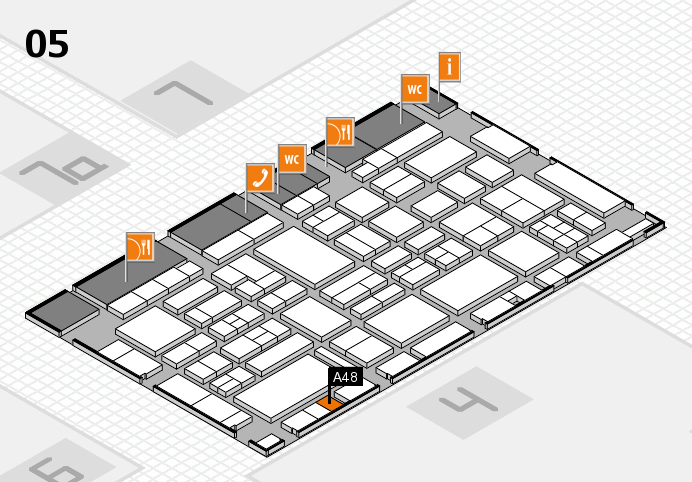 EuroShop 2017 hall map (Hall 5): stand A48