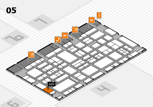 EuroShop 2017 hall map (Hall 5): stand A29