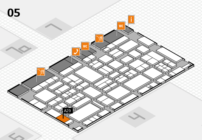 EuroShop 2017 hall map (Hall 5): stand A29