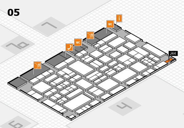 EuroShop 2017 hall map (Hall 5): stand J44