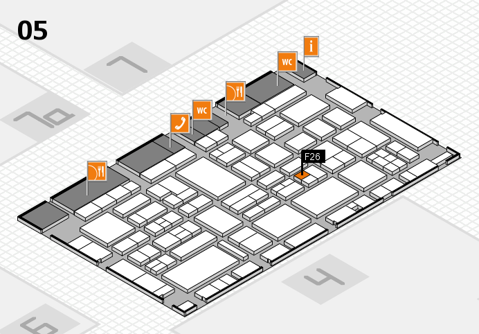 EuroShop 2017 hall map (Hall 5): stand F26