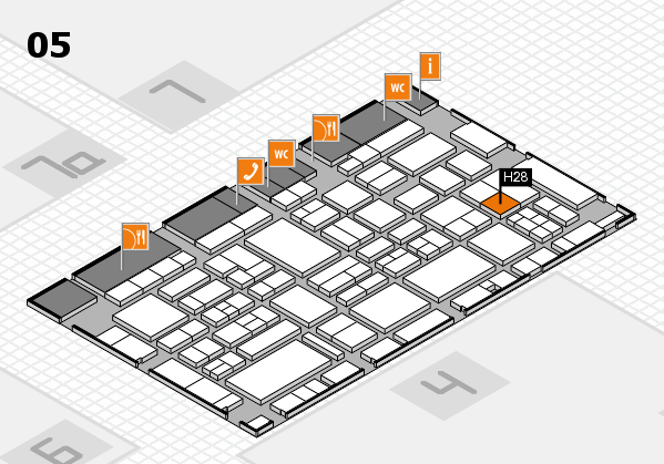 EuroShop 2017 hall map (Hall 5): stand H28