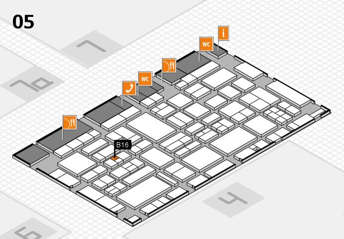 EuroShop 2017 hall map (Hall 5): stand B16