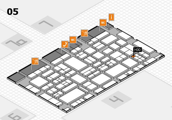 EuroShop 2017 hall map (Hall 5): stand H30