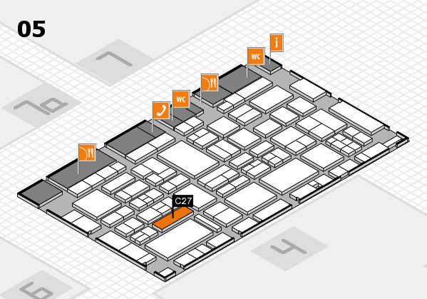 EuroShop 2017 hall map (Hall 5): stand C27