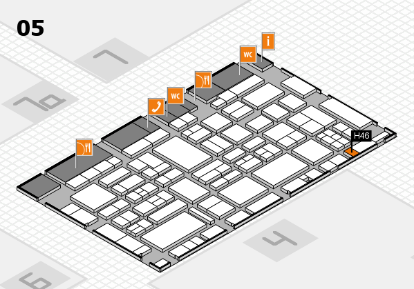 EuroShop 2017 hall map (Hall 5): stand H46