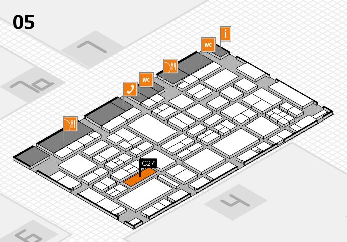EuroShop 2017 hall map (Hall 5): stand C27