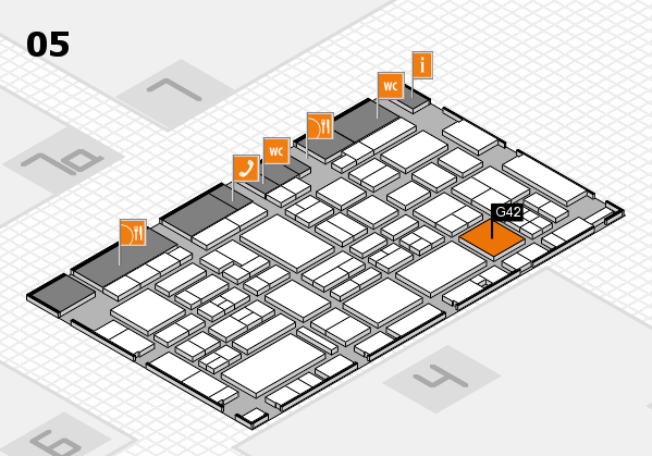 EuroShop 2017 hall map (Hall 5): stand G42