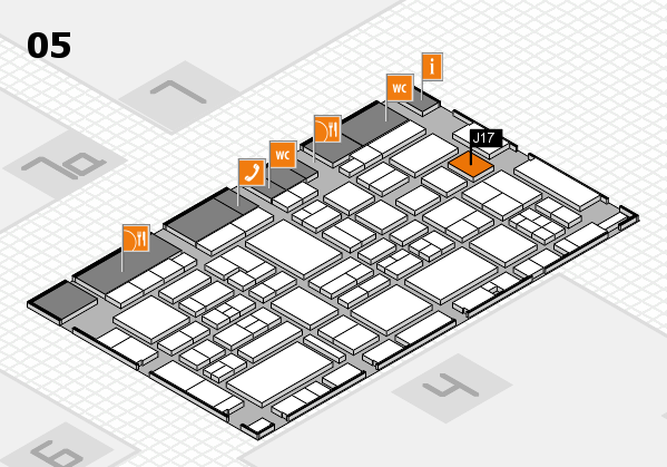 EuroShop 2017 hall map (Hall 5): stand J17