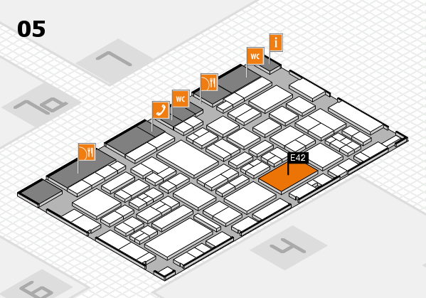 EuroShop 2017 hall map (Hall 5): stand E42