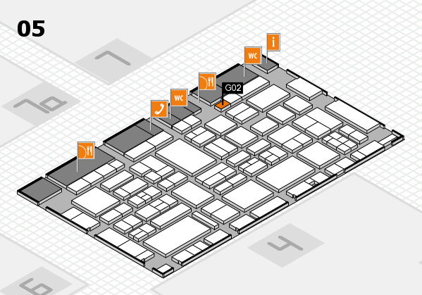 EuroShop 2017 hall map (Hall 5): stand G02