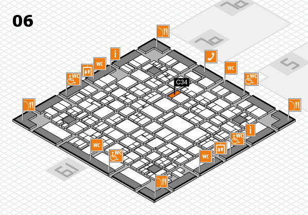 EuroShop 2017 hall map (Hall 6): stand C34