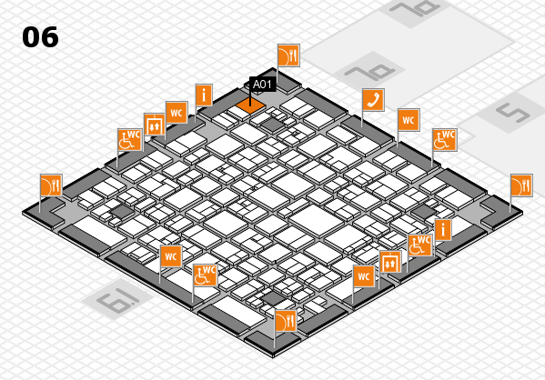 EuroShop 2017 hall map (Hall 6): stand A01