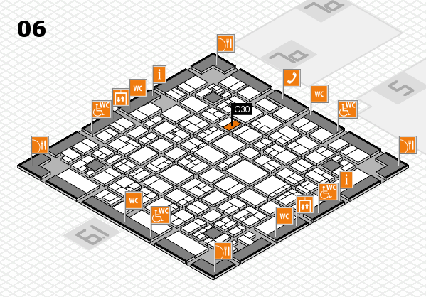EuroShop 2017 hall map (Hall 6): stand C30