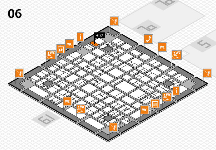EuroShop 2017 hall map (Hall 6): stand B02