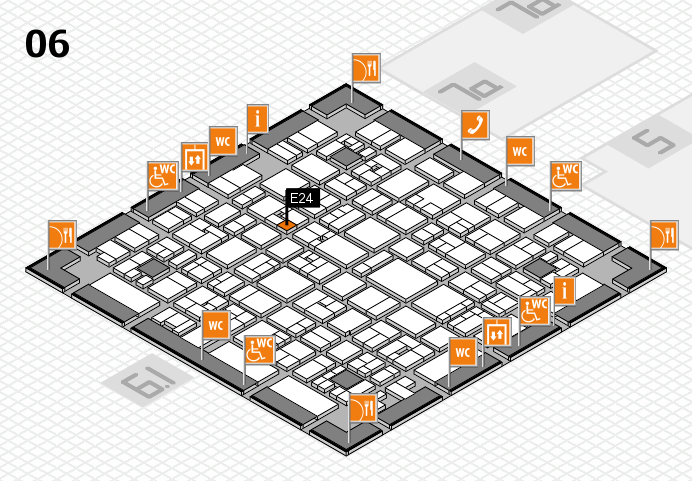 EuroShop 2017 hall map (Hall 6): stand E24