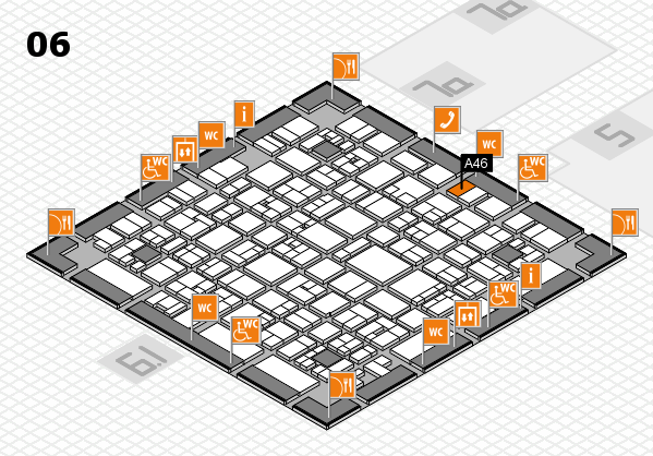 EuroShop 2017 hall map (Hall 6): stand A46