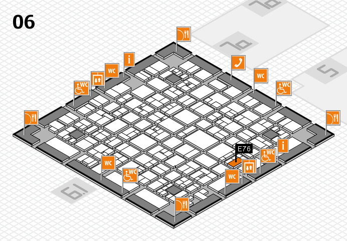 EuroShop 2017 hall map (Hall 6): stand E76
