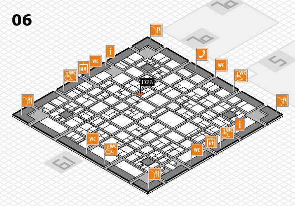 EuroShop 2017 hall map (Hall 6): stand D28