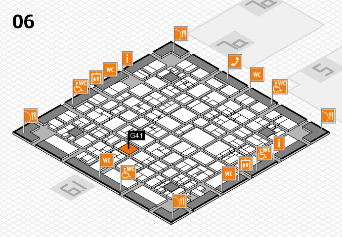 EuroShop 2017 hall map (Hall 6): stand G41