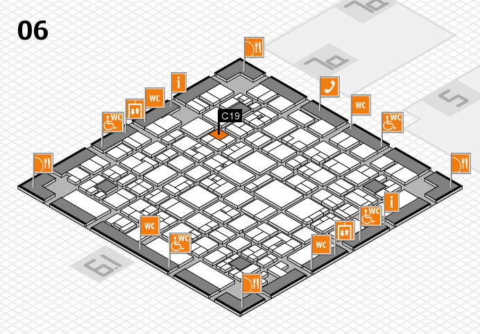 EuroShop 2017 hall map (Hall 6): stand C19