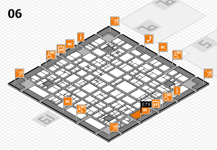 EuroShop 2017 hall map (Hall 6): stand E79