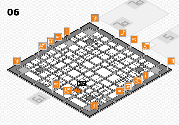 EuroShop 2017 hall map (Hall 6): stand H57