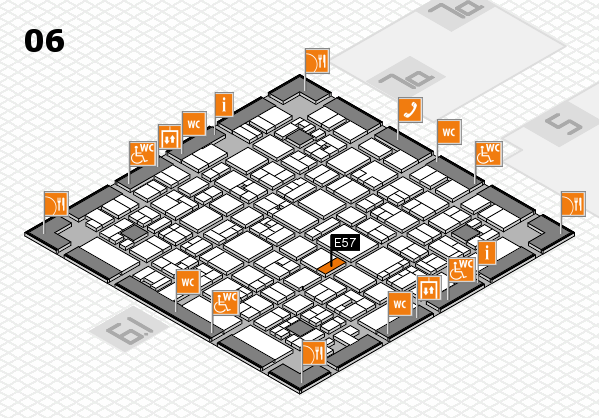 EuroShop 2017 hall map (Hall 6): stand E57