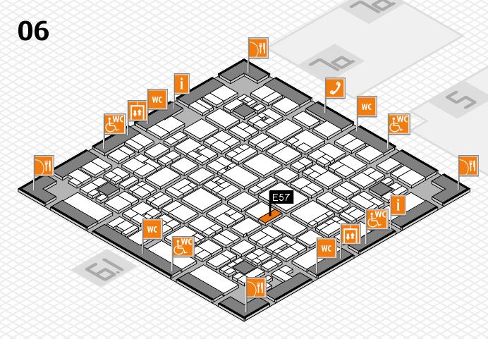 EuroShop 2017 hall map (Hall 6): stand E57