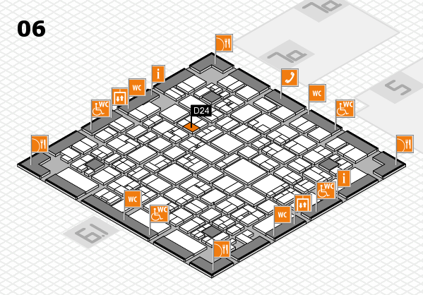 EuroShop 2017 hall map (Hall 6): stand D24