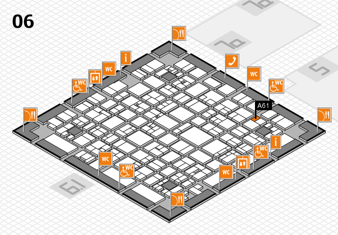 EuroShop 2017 hall map (Hall 6): stand A61