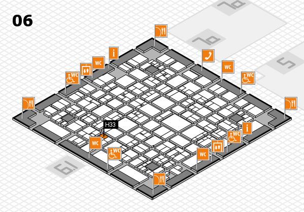 EuroShop 2017 hall map (Hall 6): stand H33