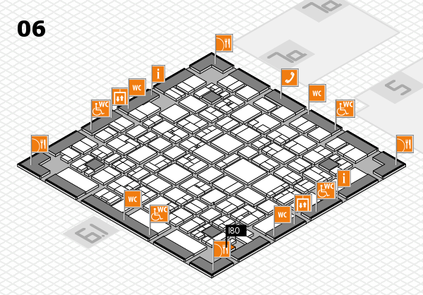 EuroShop 2017 hall map (Hall 6): stand I80